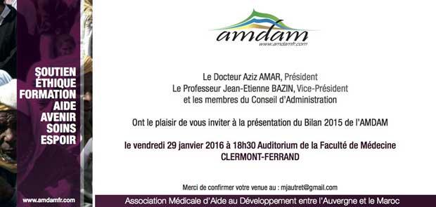 L'AMDAM présente le bilan de ses activités 2015 à Clermont-Ferrand