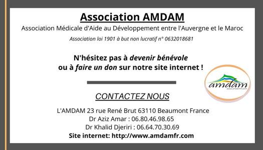 Coordonnées de l'AMDAM